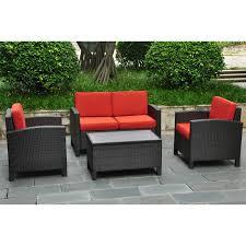 Conversation Patio Furniture Sets - international caravan barcelona resin wicker outdoor patio set