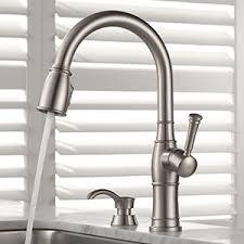 delta free kitchen faucet shop delta valdosta spotshield stainless 1 handle deck mount pull