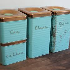 retro kitchen canisters set vintage canisters sugar flour coffee tea antique style galvanized
