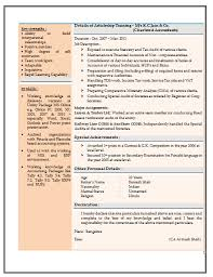 resume templates for experienced accountants near suffield resume sle for experienced chartered accountant 2 career