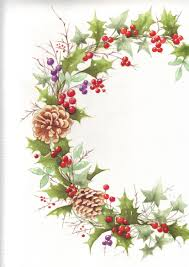 christmas wreath tole painting pinterest wreaths watercolor