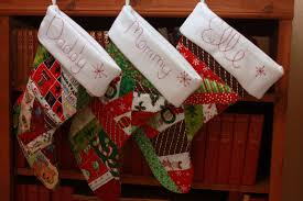 homemade quilted christmas stockings love laughter and a touch