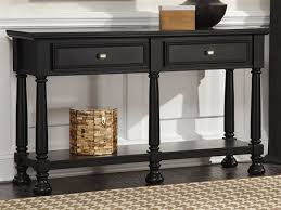 Ashley Sofa Table by Ashley Sofa Tables Amusing Modern Design Black Stained Finish Rectangle Solid Wood Console Lower Shelf Double Drawers Feature Decoration Jpg