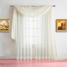 warm home designs beige window scarf valance sheer beige curtains