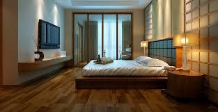 3d wooden floor bedroom interior design