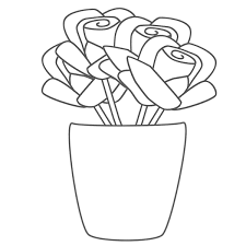 free printable roses coloring pages kids flower ideas