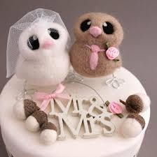 owl wedding cake topper mini owl wedding cake topper