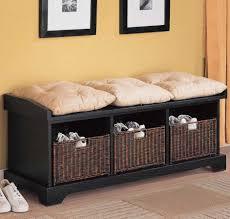 Wicker Storage Bench Black Wicker Storage Bench Wicker Storage Bench For Non Formal
