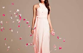 pink unique bridesmaid dresses