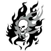 flaming skull t shirt spreadshirt