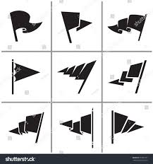 Flag Triangle Flag Triangle Icon Signs Set Vector Stock Vector 697895101