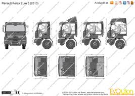renault kerax the blueprints com vector drawing renault kerax euro 5