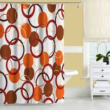 Navy And Red Shower Curtain Extraordinary Orange Bathroom Decor Best Orangerooms Images Onroom