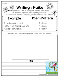 writing a haiku poem tons of great activities for 2nd grade in