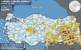 Turkey World Map Kurdish Conflict Map Update