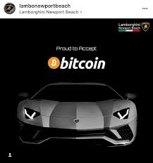 lamborghini ads lamborghini now accepts bitcoin cryptocurrency