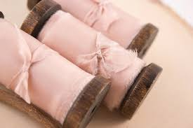 silk ribbon blush pink dyed silk ribbon a ribbon s nest