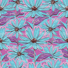 bright floral seamless pattern wallpaper chamomiles handdrawn