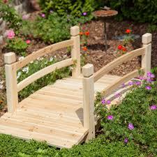 yard bridge 4 ft wood garden bridge walkway backyard patio yard water