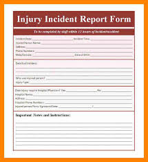 incident report template incident report template free word