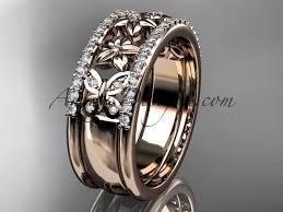 butterfly engagement ring 14kt white gold flower wedding ring engagement ring wedding band