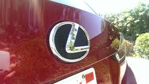 lexus ct200h black emblem swapped front badge