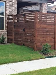 custom cedar horizontal fence installed by titan fence u0026 supply
