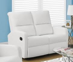 Bonded Leather Loveseat Modular 2 Piece Bonded Leather Reclining Loveseat With Waterfall
