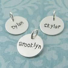 name charms name charm pendant sted sterling silver personalized
