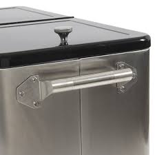 Trinity Stainless Steel Cooler With Shelf by Amazon Com Belleze 80 Quart Portable Rolling Ice Chest Cooler