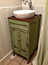 I Just Repurposed An Old Dresser To Use As A Vanity In Our New - Bathroom sink in cabinet