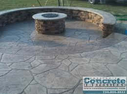 Concrete Fire Pit by Cousino U0027s Concrete Impressions Fire Pits Concrete Patios Decks