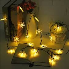 Snowflake Lights Outdoor Solar Powered 5m 20led Snowflake Bling Fairy String Lights