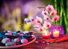spa images hd spa orchid flower stones candle cinnamon bamboo hd wallpaper
