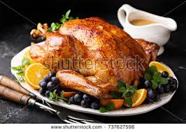 festive celebration roasted turkey gravy thanksgiving stock photo
