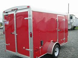 Red Barn Trailers American Hauler 6 X 12 Enclosed Trailer Barn Door