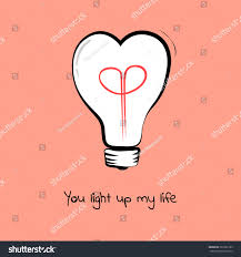 doodle sign up light bulb text you light stock vector 361802183