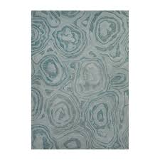 Modern Abstract Rugs Modern Abstract Microscopic Pattern Wool Area Rug Blue 5 L X 8