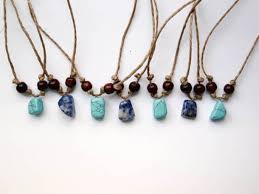 boho stone necklace images Jewels boho beach surf hippie pendant stone blue leather jpg