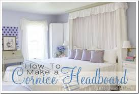 How To Make Window Cornice How To Make A Cornice Headboard In My Own Style