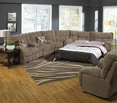 furniture home sleeper sofa brown fabric armchair with sectional