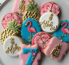 aloha this listing is for one dozen flamingo and pineapple themed