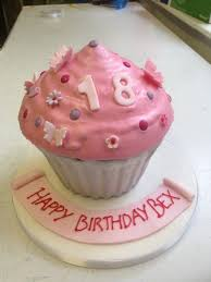 pink buttercream giant cupcake cinnamon square