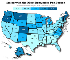 Wisconsin Breweries Map by Where Is Craft Beer Most Popular In America