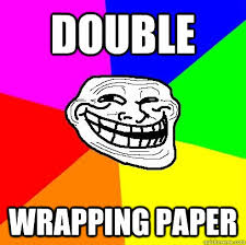 meme wrapping paper wrapping paper troll quickmeme