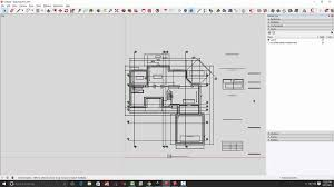 how to draw floor plans for a house part 1 converting pdf drawings for use in sketchup youtube