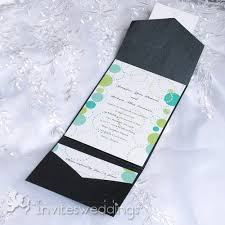 pocket wedding invitations inexpensive shades of green pocket wedding invitations iwps082