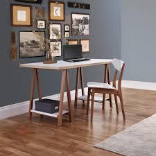 bureau avec treteau bureau à tréteaux design et pratique highbury drawer fr