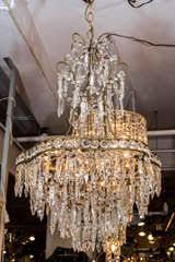 Swarovski Crystals Chandelier Italian 1950 U0027s Swarovski Crystal Chandelier Nyshowplace