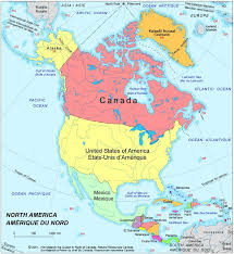 map of atlantic canada and usa america political map